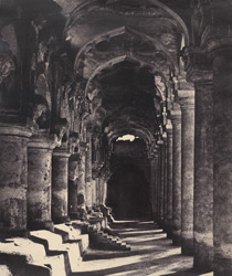 Arcade in the quadrangle [of the Palace, Madurai]
